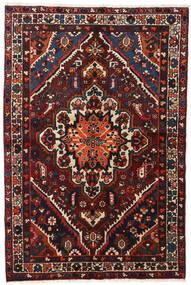 Bakhtiar Matta 140X210 Äkta Orientalisk Handknuten Svart/Mörkröd (Ull, Persien/Iran)
