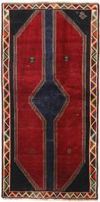 Ghashghai Matta 105X212 Äkta Orientalisk Handknuten Röd/Svart (Ull, Persien/Iran)
