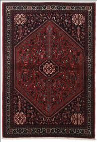 Abadeh Matta 100X151 Äkta Orientalisk Handknuten Mörkbrun/Mörkröd (Ull, Persien/Iran)