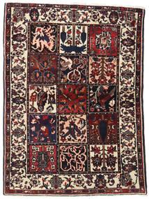 Bakhtiar Matta 110X151 Äkta Orientalisk Handknuten Mörkbrun/Beige (Ull, Persien/Iran)