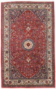 Sarough Matta 137X220 Äkta Orientalisk Handknuten Mörkröd/Mörkblå (Ull, Persien/Iran)