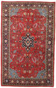 Sarough Matta 135X215 Äkta Orientalisk Handknuten Mörkröd/Roströd (Ull, Persien/Iran)