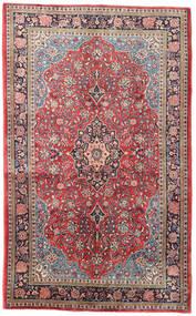 Sarough Matta 135X220 Äkta Orientalisk Handknuten Ljusgrå/Roströd (Ull, Persien/Iran)