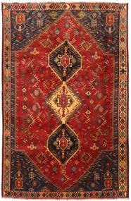 Shiraz Matta 185X285 Äkta Orientalisk Handknuten Mörkröd/Mörkbrun (Ull, Persien/Iran)
