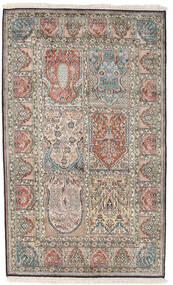 Kashmir Äkta Silke Matta 98X161 Äkta Orientalisk Handknuten Ljusgrå/Mörkgrå (Silke, Indien)