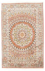 Kashmir Äkta Silke Matta 80X124 Äkta Orientalisk Handknuten Beige/Ljusgrå (Silke, Indien)