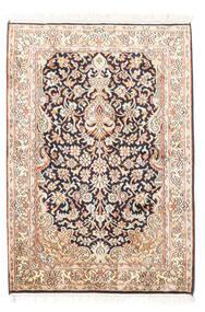 Kashmir Äkta Silke Matta 65X94 Äkta Orientalisk Handknuten Beige/Vit/Cremefärgad (Silke, Indien)