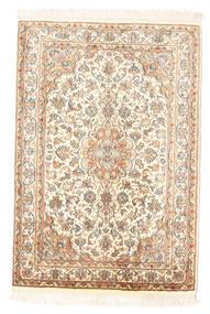 Kashmir Äkta Silke Matta 65X94 Äkta Orientalisk Handknuten Beige (Silke, Indien)