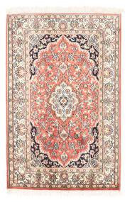 Kashmir Äkta Silke Matta 63X97 Äkta Orientalisk Handknuten Beige/Mörkbeige (Silke, Indien)