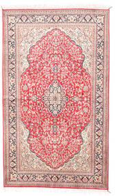 Kashmir Äkta Silke Matta 92X154 Äkta Orientalisk Handknuten Beige/Ljusrosa (Silke, Indien)