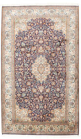 Kashmir Äkta Silke Matta 95X158 Äkta Orientalisk Handknuten Ljusgrå/Beige (Silke, Indien)