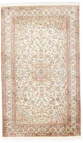 Kashmir Äkta Silke Matta 92X153 Äkta Orientalisk Handknuten Vit/Cremefärgad/Ljusgrå (Silke, Indien)
