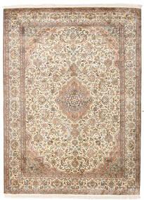 Kashmir Äkta Silke Matta 160X217 Äkta Orientalisk Handknuten Beige/Ljusbrun (Silke, Indien)