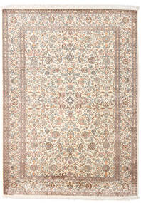 Kashmir Äkta Silke Matta 158X217 Äkta Orientalisk Handknuten Ljusgrå/Beige (Silke, Indien)