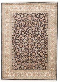 Kashmir Äkta Silke Matta 158X218 Äkta Orientalisk Handknuten Beige/Mörkgrå (Silke, Indien)