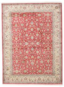 Kashmir Äkta Silke Matta 158X216 Äkta Orientalisk Handknuten Beige/Ljusgrå (Silke, Indien)