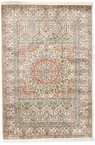 Kashmir Äkta Silke Matta 127X186 Äkta Orientalisk Handknuten Ljusgrå/Beige (Silke, Indien)