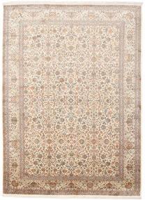 Kashmir Äkta Silke Matta 246X336 Äkta Orientalisk Handknuten Beige/Brun (Silke, Indien)