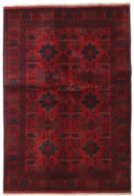 Afghan Khal Mohammadi Matta 132X189 Äkta Orientalisk Handknuten Mörkröd/Mörkbrun (Ull, Afghanistan)