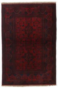Afghan Khal Mohammadi Matta 101X148 Äkta Orientalisk Handknuten Mörkröd (Ull, Afghanistan)