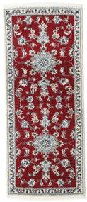 Nain Matta 80X200 Äkta Orientalisk Handknuten Hallmatta Mörkröd/Röd (Ull, Persien/Iran)