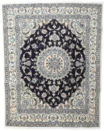 Nain Matta 200X250 Äkta Orientalisk Handknuten Beige/Mörkgrå (Ull, Persien/Iran)