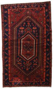Hamadan Matta 135X227 Äkta Orientalisk Handknuten Mörkröd (Ull, Persien/Iran)