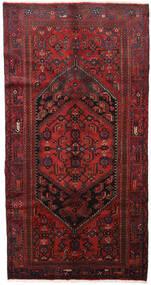 Hamadan Matta 139X264 Äkta Orientalisk Handknuten Mörkröd/Svart (Ull, Persien/Iran)
