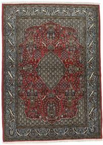 Ghom Kork/Silke Matta 113X154 Äkta Orientalisk Handknuten Mörkgrå/Svart (Ull/Silke, Persien/Iran)