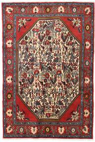 Koliai Matta 128X190 Äkta Orientalisk Handknuten Mörkröd/Mörkbrun (Ull, Persien/Iran)