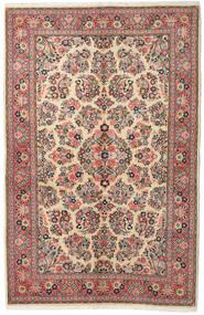 Sarough Matta 132X213 Äkta Orientalisk Handknuten Mörkgrå/Brun (Ull, Persien/Iran)