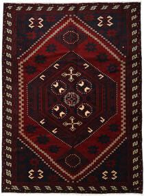Lori Matta 220X300 Äkta Orientalisk Handknuten Mörkröd (Ull, Persien/Iran)
