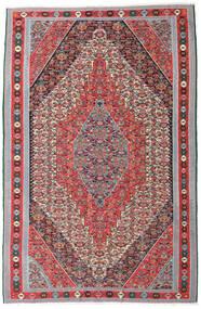 Kelim Senneh Matta 169X257 Äkta Orientalisk Handvävd Ljusgrå/Brun (Ull, Persien/Iran)