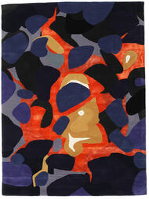 Kolgrå - Grå/Multi Matta 160X230 Modern Mörklila/Mörkblå ( Indien)