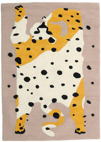 The Spotty Cat - Beige/Multi Matta 100X160 Modern Ljusgrå/Beige (Ull, Indien)