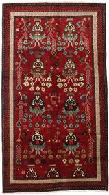 Lori Matta 145X265 Äkta Orientalisk Handknuten Mörkröd/Mörkbrun (Ull, Persien/Iran)