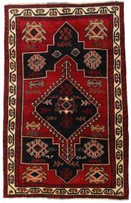 Lori Matta 156X248 Äkta Orientalisk Handknuten Mörkbrun/Mörkröd (Ull, Persien/Iran)