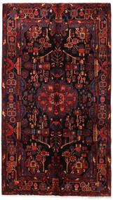 Nahavand Matta 160X281 Äkta Orientalisk Handknuten Mörkbrun/Mörkröd (Ull, Persien/Iran)