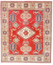 Kazak Matta 157X192 Äkta Orientalisk Handknuten Röd/Beige (Ull, Afghanistan)