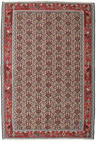 Kelim Senneh Matta 130X194 Äkta Orientalisk Handvävd Ljusgrå/Mörkröd (Ull, Persien/Iran)