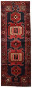 Hamadan Matta 104X295 Äkta Orientalisk Handknuten Hallmatta Mörkröd (Ull, Persien/Iran)