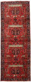 Hamadan Matta 105X284 Äkta Orientalisk Handknuten Hallmatta Mörkröd/Roströd (Ull, Persien/Iran)