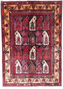 Zanjan Matta 145X210 Äkta Orientalisk Handknuten Mörkröd/Mörkbrun (Ull, Persien/Iran)