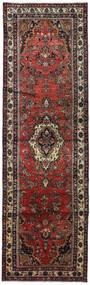 Hamadan Matta 105X345 Äkta Orientalisk Handknuten Hallmatta Mörkröd/Svart (Ull, Persien/Iran)