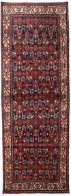 Hamadan Matta 106X298 Äkta Orientalisk Handknuten Hallmatta Mörkröd/Mörkbrun (Ull, Persien/Iran)