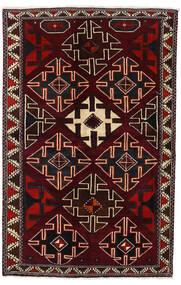 Lori Matta 138X215 Äkta Orientalisk Handknuten Mörkröd (Ull, Persien/Iran)