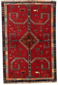 Ghashghai Matta 147X222 Äkta Orientalisk Handknuten Röd/Mörkröd (Ull, Persien/Iran)