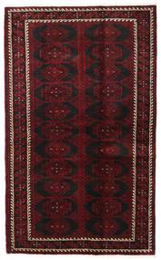Beluch Matta 125X204 Äkta Orientalisk Handknuten Mörkbrun/Mörkröd (Ull, Persien/Iran)