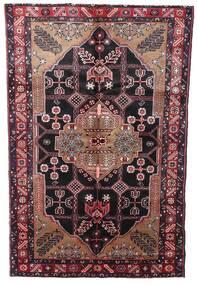 Hamadan Matta 150X242 Äkta Orientalisk Handknuten Mörkröd/Mörkbrun (Ull, Persien/Iran)