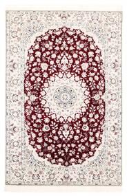Nain 6La Matta 121X182 Äkta Orientalisk Handvävd Vit/Cremefärgad/Ljusrosa (Ull/Silke, Persien/Iran)